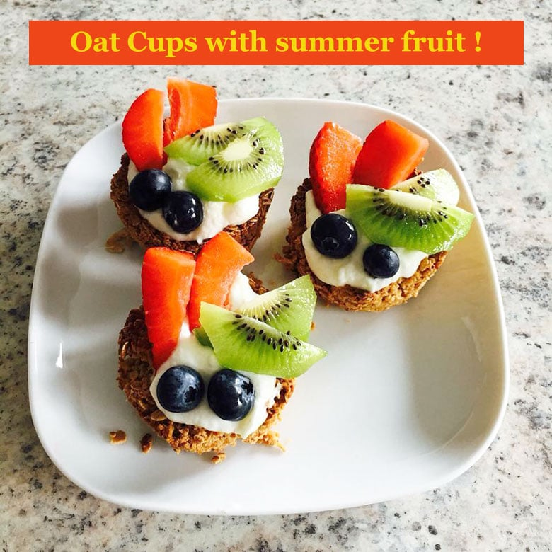 Oat Cups with yoghurt and summer fruit