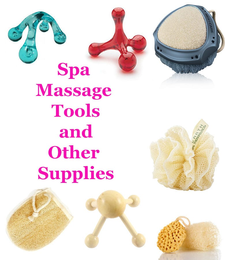 Spa Massage tools and other supplies
