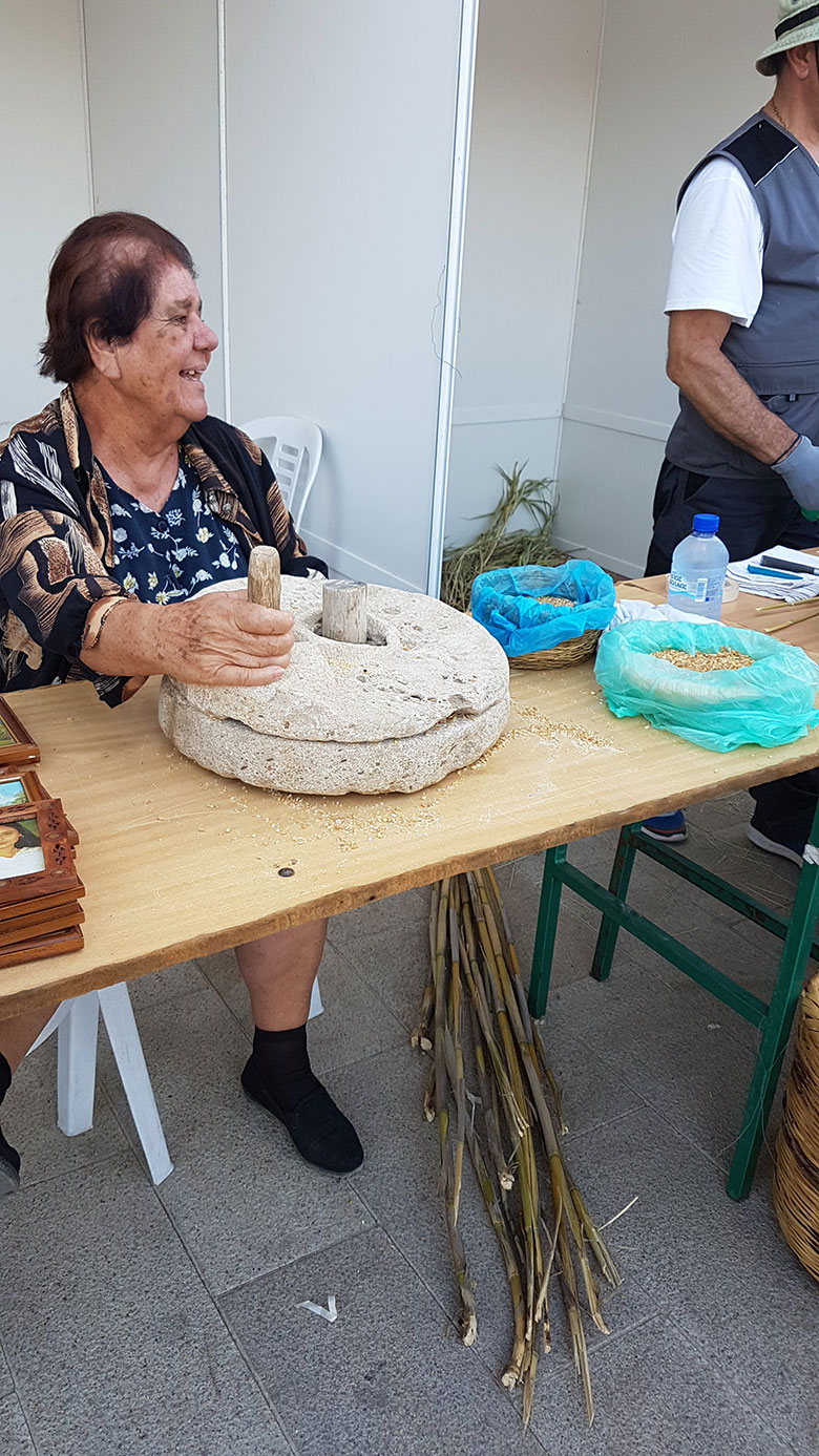 Lady using traditional tools