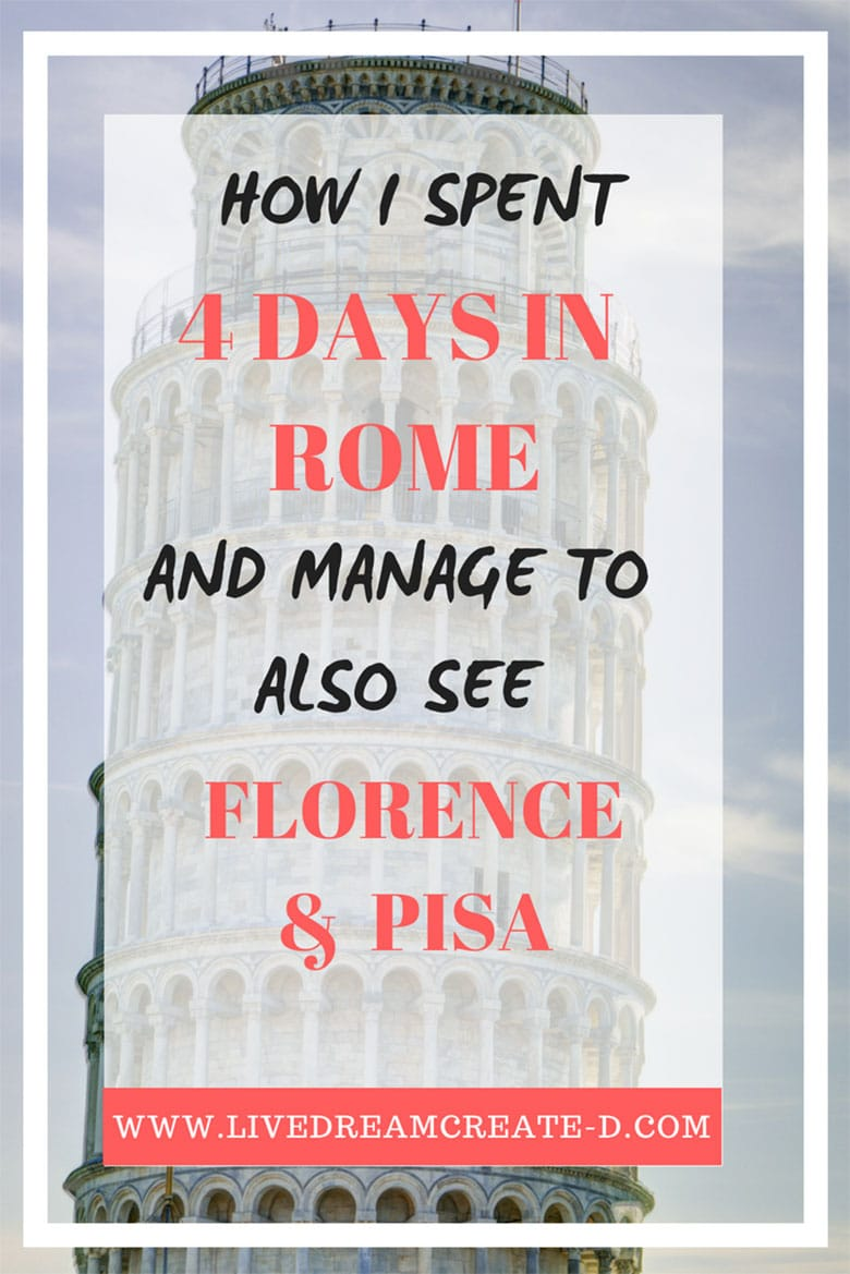HOW TO SEE ROME FLORENCE AND PISA