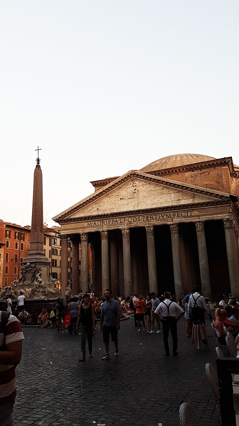 PANTHEON FROM AFAR - IN ROME