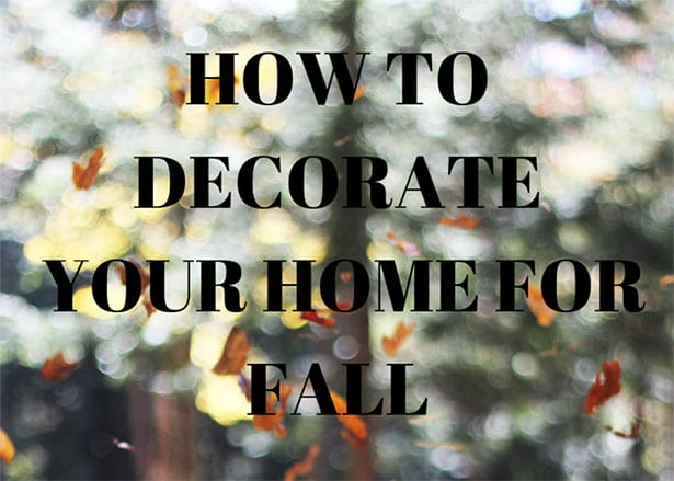 Tips on decorating your home for autumn