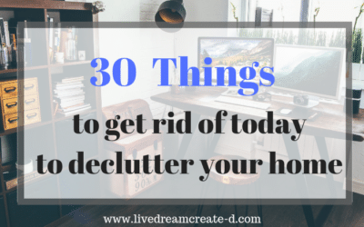 30 things to declutter today