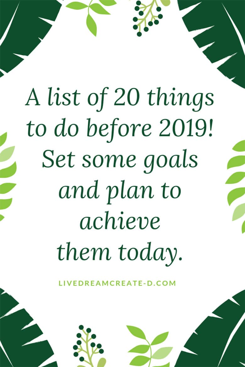 20 Achievable points to do before the end of the year!