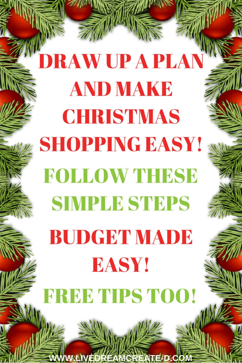 3 STEPS TO PLAN A CHRISTMAS GIFT SHOPPING OUTTING
