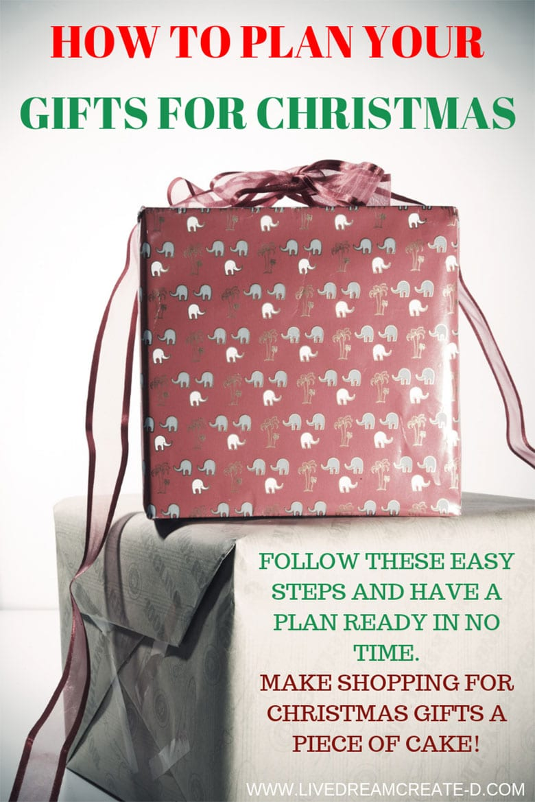 MAKE A PLAN TO SHOP CHRISTMAS GIFTS TODAY