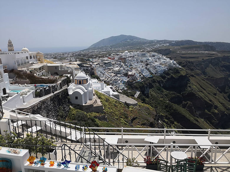 Santorini views of Fira