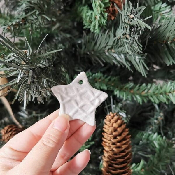 White Small Star Ornament